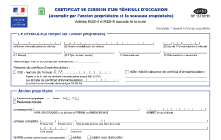 document carte grise