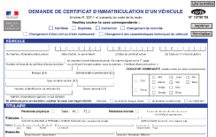 document pour carte grise